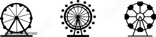 Fototapeta fun park icon isolated on white background obraz