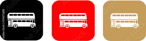 double decker bus icon isolated on background Fototapet