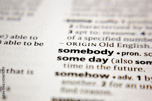 Cuadros en Lienzo  Word or phrase somebody in a dictionary.