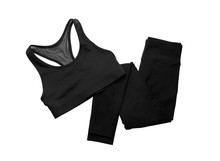 New Stylish Sportswear Isolated On White, Top View