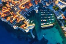 Dubrovnik, Croatia. Aerial Vie...