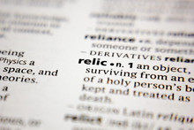 Word Or Phrase Relic In A Dict...