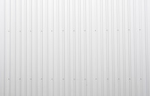 White Corrugated Metal Sheet Texture Surface Of The Wall. Galvanize Steel Background.