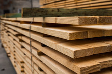 Piles Of Wooden Boards In The ...