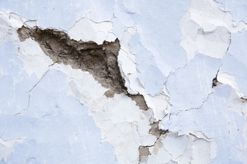 Vintage old cracked wall concrete, cement stucco painting