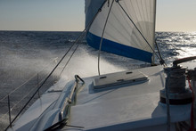 Sailing In Strong Winds And Stormy Seas.