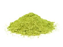 Green Matcha Powder On White B...