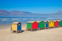 Colorful Beach Huts On Beach I...