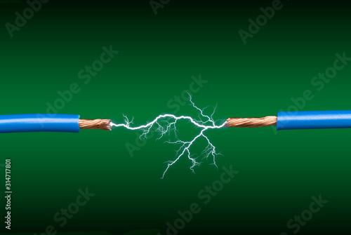 Electrical arc Canvas Print