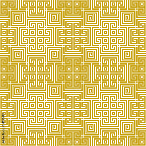 Photo Vector seamless antique traditional geometric greek gold pattern 8