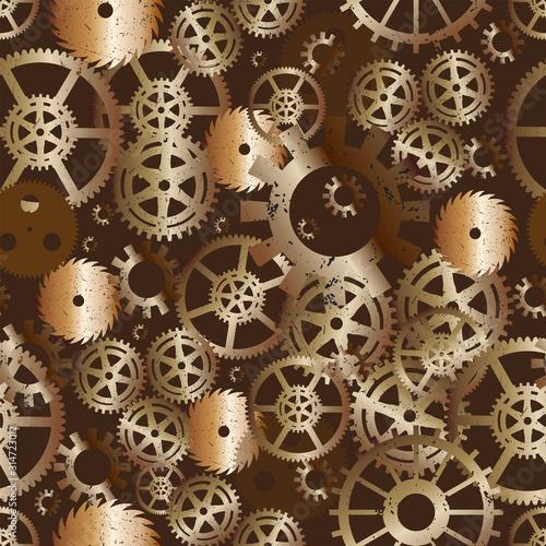 Tapety do pokoju młodzieżowego  seamless-repeat-vector-pattern-of-steampunk-gear-wheels-colored-gradient-brass-on-brown-rust