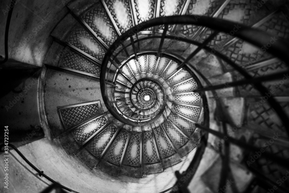 Fototapeta spiral spiral staircase