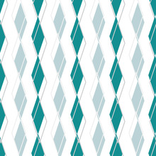 Slipped Argyle, Rows Of Blue G...