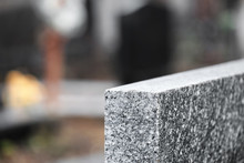 Light Grey Granite Tombstone O...