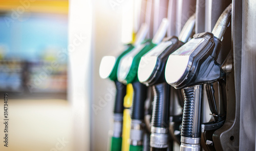 Canvas-taulu Colorfull fuel gasoline dispenser background