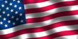 Waving flag of United States of America background
