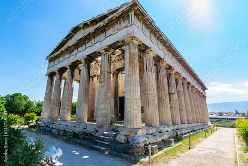 Temple of Hephaestus in Agora, Athens Canvas Print
