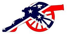 Rebel Flag With Civil War Cann...