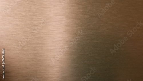 Foto Copper or bronze brushed metal background or texture
