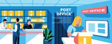 Post Office Flat Vector Landin...