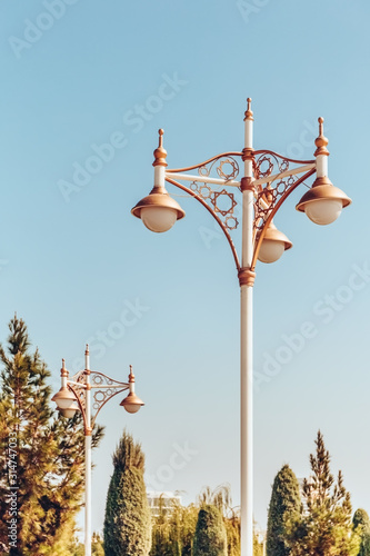 Photo Curly lanterns in Ashgabat ,Tirkmenistan