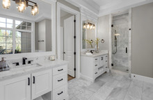 Beautiful Bathroom In New Luxu...