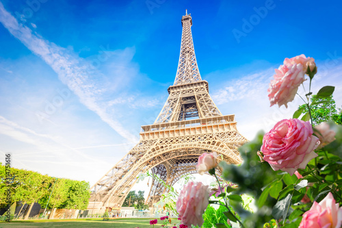 eiffel tour and Paris cityscape - 314751616
