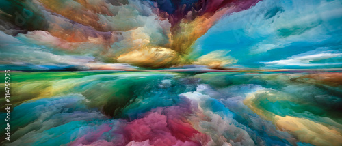 Beyond Inner Spectrum Wallpaper Mural