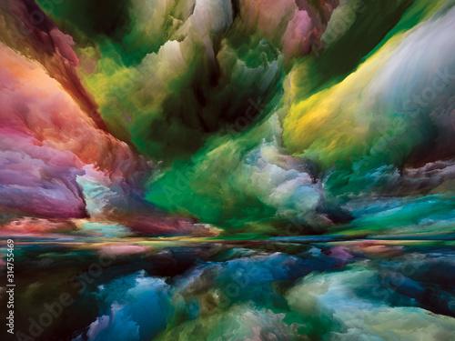 Obraz Depth of Land and Sky - fototapety do salonu