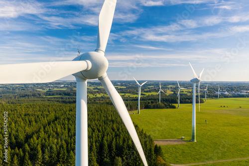 Carta da parati Wind Turbines Windmill Energy