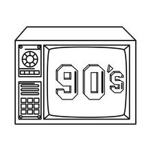 Tv Nineties Retro Style Isolated Icon