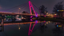 One Of Several Bridges Over The Brda River In Bydgoszcz