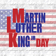 Simple, Martin Luther King Jr. Day Banner/card/poster On One Of His Famous Quotes,'The Time Is Always Right To Do What Is Right' , Text Seamless Pattern Backdrop.