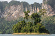 Beautiful landscape of the Cheow Lan lake in Khao Sok National Park