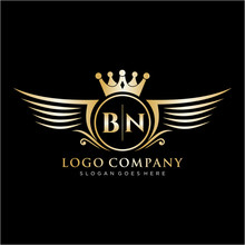 BN Letter Initial With Royal W...