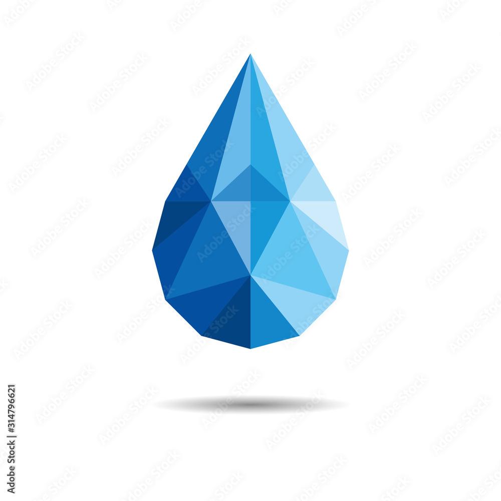 Fototapeta Polygonal Drop Of Water