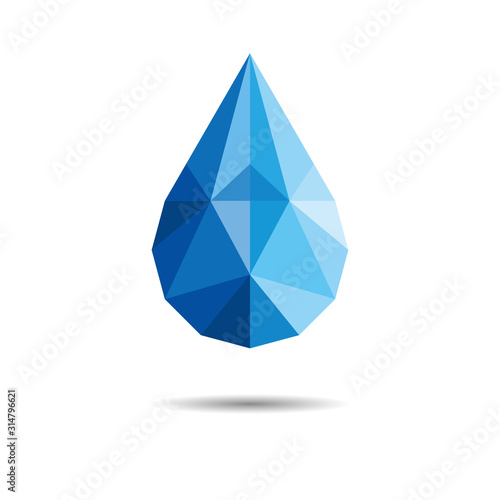 Polygonal Drop Of Water