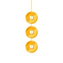 Golden Coins Feng Shui Hanging...