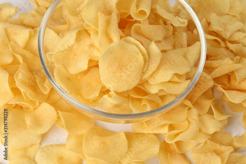 Arrowhead root arrowroot chips traditional for Chinese new year Canvas Print