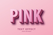 3D Pink Text Effect, Editable ...
