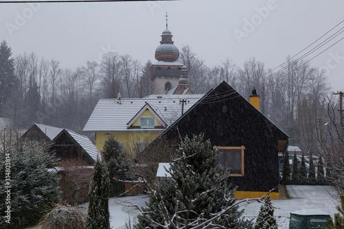 Mountain Smrečany village. Liptov region. Western Tatras. Slovakia.