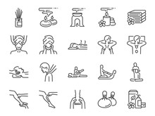 Spa Line Icon Set. Included Ic...