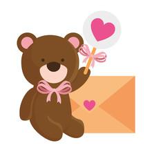 Cute Teddy Bear With Envelope ...