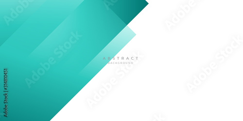 Fototapety, obrazy: Modern Tosca Dark Green Turquoise Grey White Line Abstract Background for Presentation Design Template. Suit for corporate, business, wedding, and beauty contest.