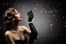 Woman Beauty Retro Hair Style,...