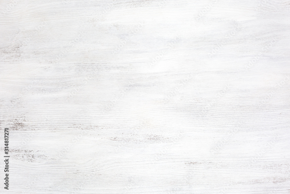 Fototapeta Old white wooden texture of rustic table.