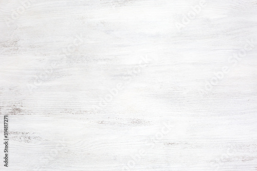 Old white wooden texture of rustic table. Canvas Print