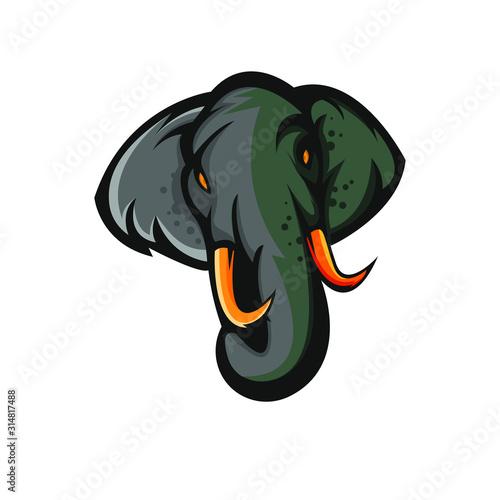 elephant logo mascot design vector illustration Wallpaper Mural