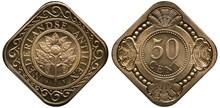 Netherlands Antilles Coin 50 F...