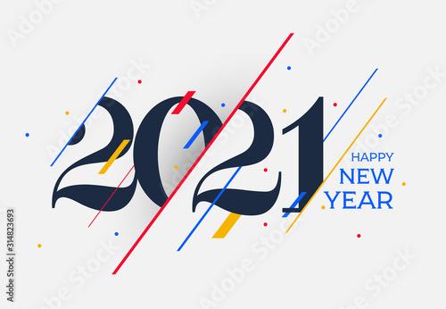 Tela 2021 Happy New Year design template